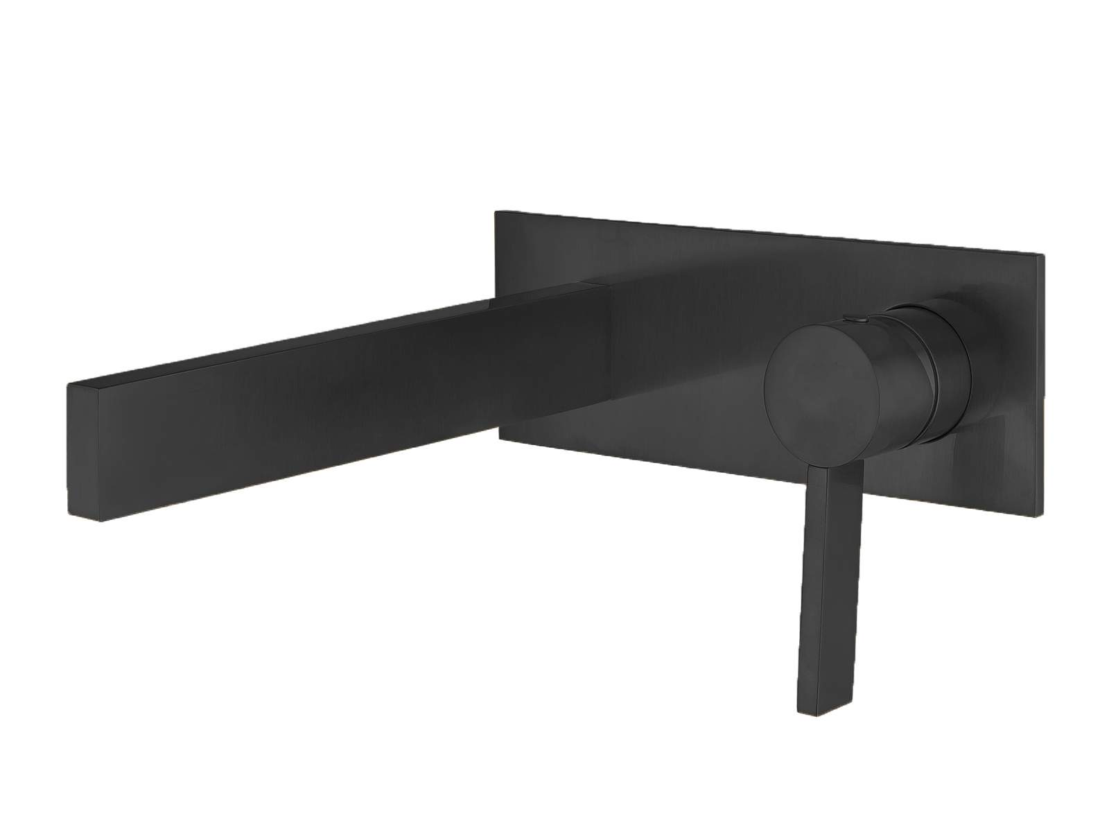 Modern Wall Mount Bathroom Faucet  Matte Black