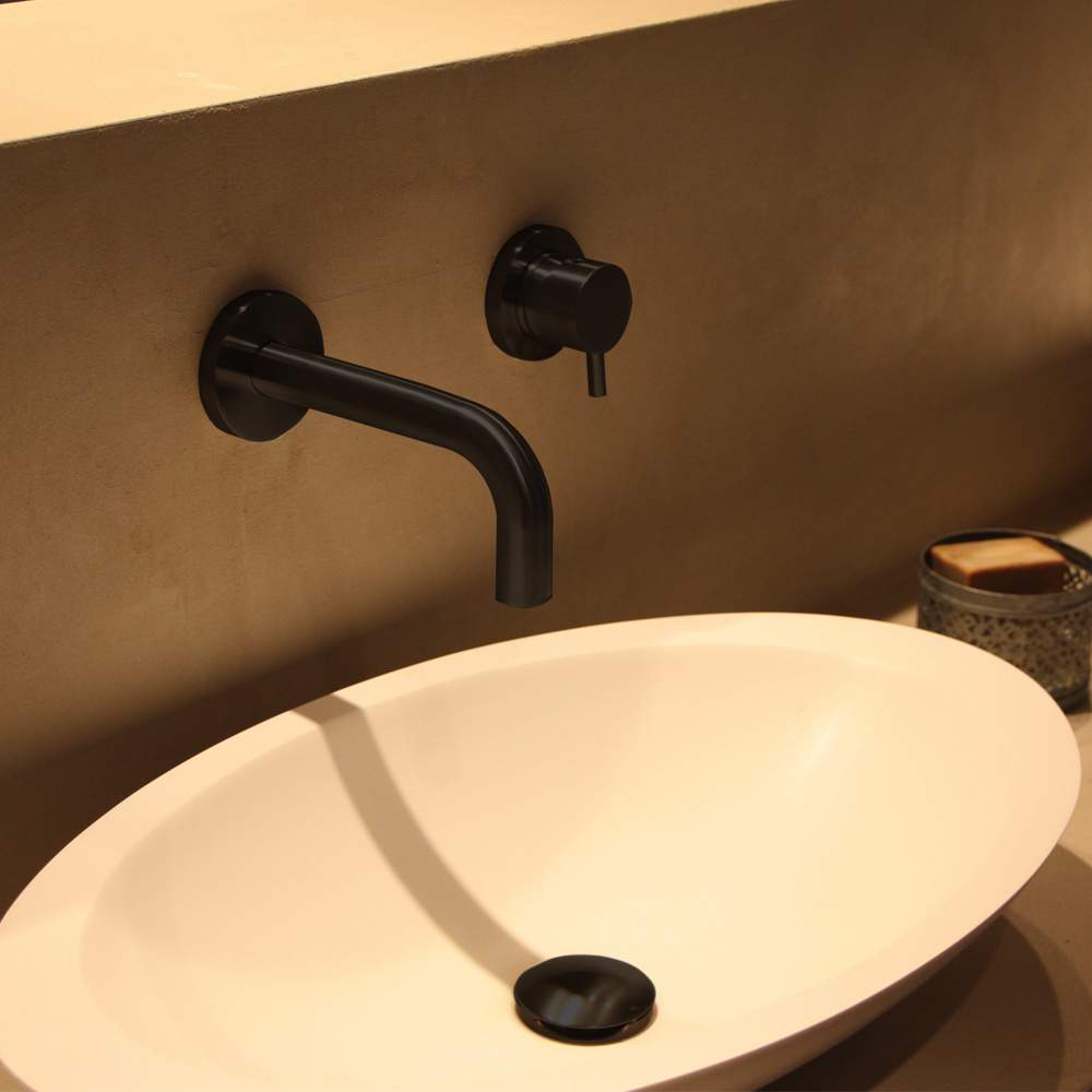 Modern Faucets For Bathroom Sinks Modern Wall Mount Bathroom Faucet Matte Black