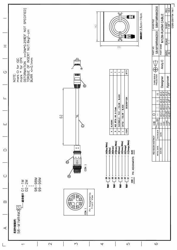 rj45 cable diagram