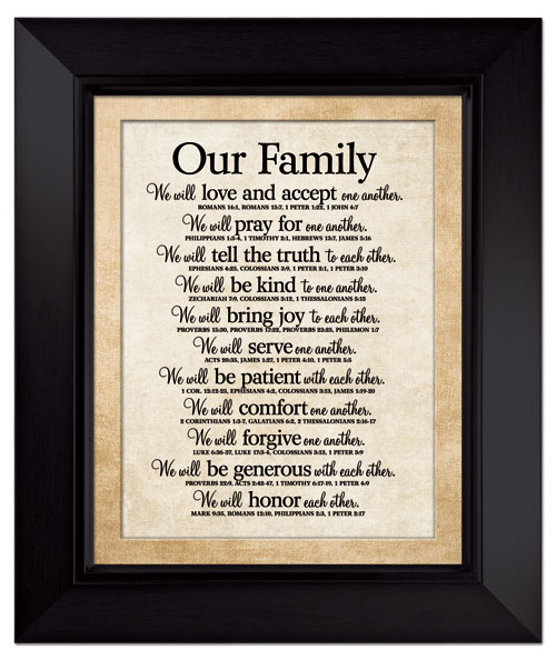 Our Family Large Wall Plaque LordsArt