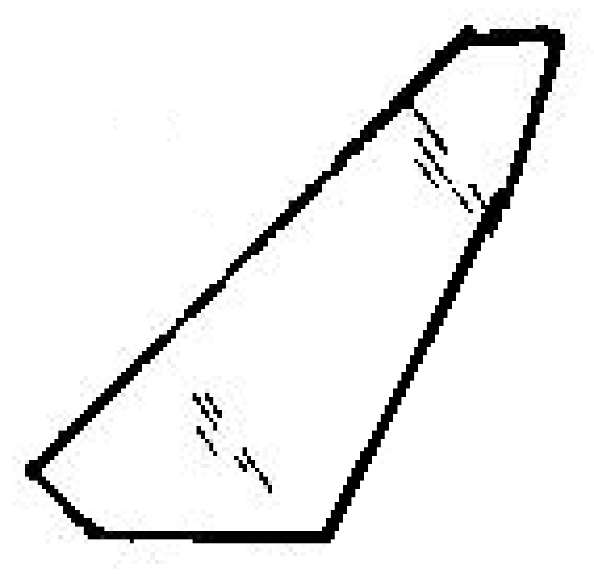 Front Vent Glass Driver Side Fiat X1/9 2 Door Coupe 1983 1984
