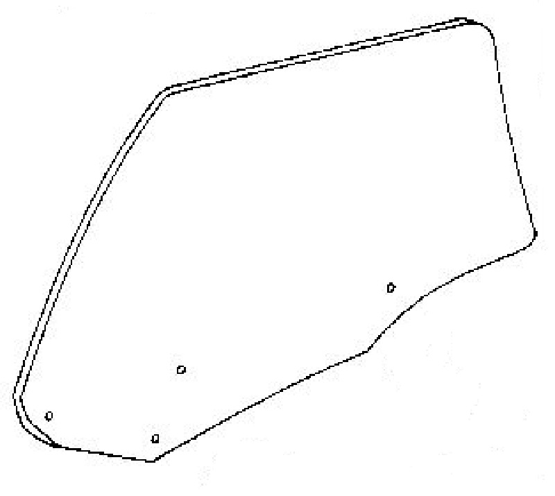 Rear Door Glass Driver Side Acura Vigor 4 Door Sedan 1992-1994