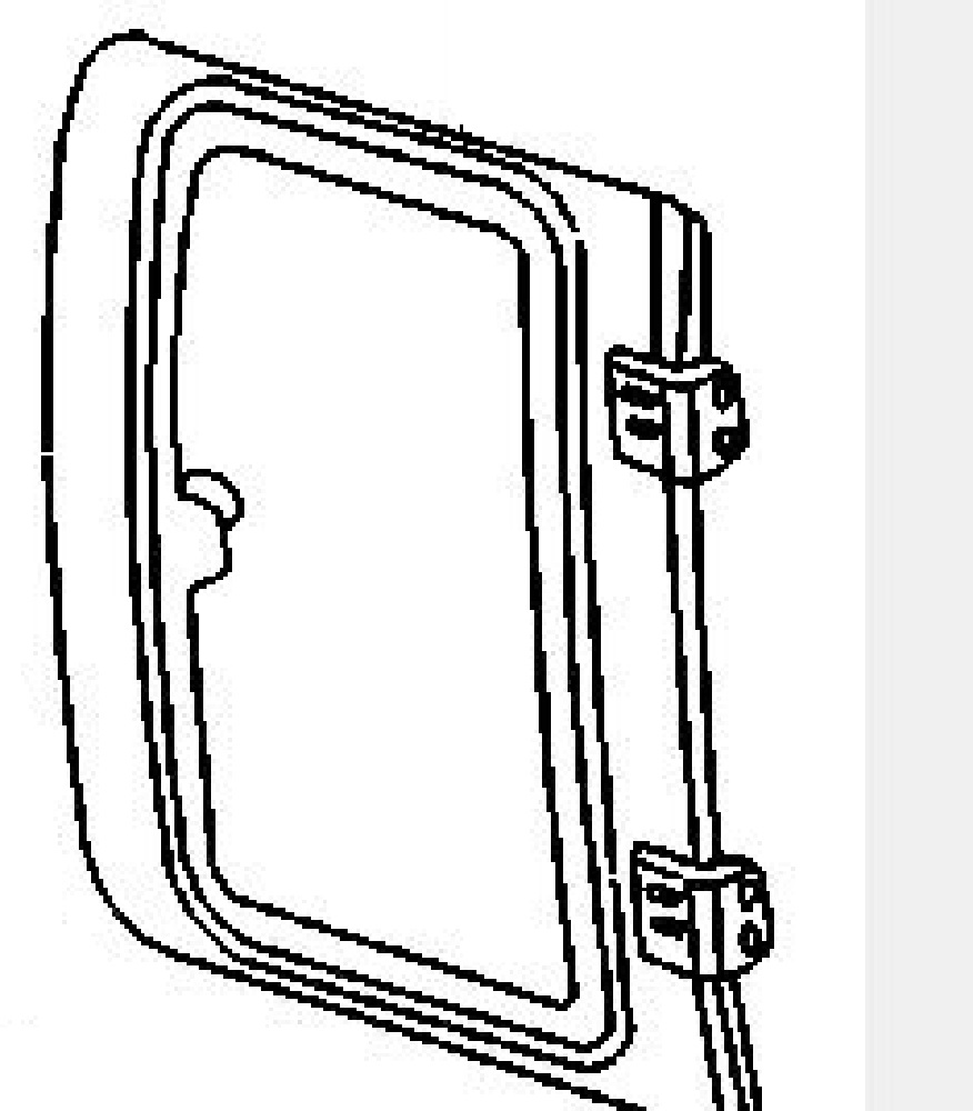 Rear Door Glass Driver Side Dodge Pickup 2500 4 Door Quad
