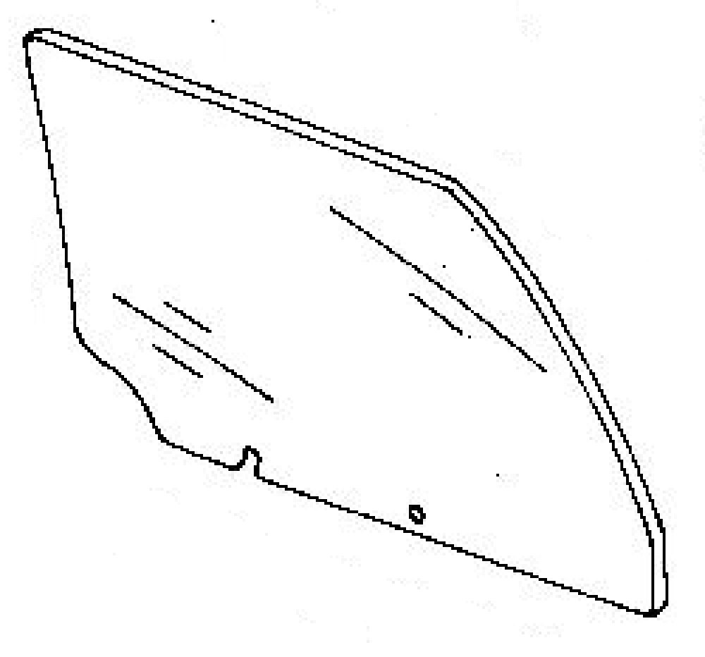Rear Door Glass Passenger Side Cadillac Deville 4 Door