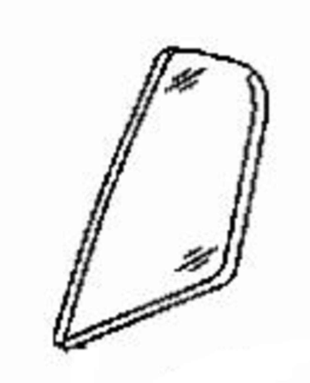 Rear Vent Glass Driver Side Acura TL 4 Door Sedan 2004-2008