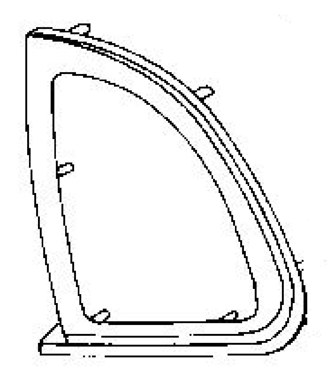 Quarter Glass Passenger Side Dodge Neon 2 Door Coupe 1995-1999