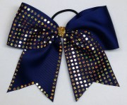 navy and gold faux rhinestone hair