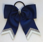 small navy with silver white glitter