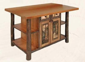 hickory kitchen island rooms to go tables old with northwoods accents