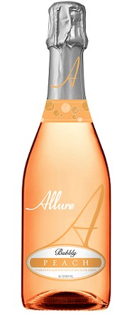 allure bubbly peach sparkling