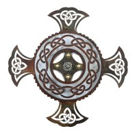 "16"" Celtic Cross Metal Wall Art - Wall Decor"