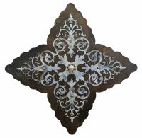 "25"" Damask Burnished Metal Wall Art - Rustic Wall Decor"