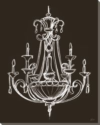 Elegant Chandelier III Wrapped Canvas Giclee Print Wall ...