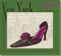 New York Vogue Shoe Wrapped Canvas Giclee Print Wall Art ...