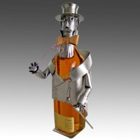 Whimsical Gentleman Johnny Metal Whiskey Bottle Holder