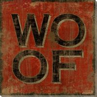 """""""Woof"""" Wrapped Canvas Giclee Print Wall Art - Wall Decor ..."""
