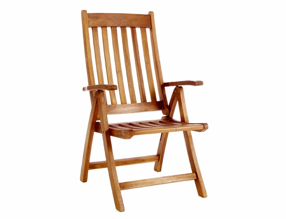 Java Teak 5-Piece Extension Table And Folding Chair Set