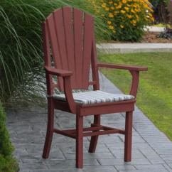 Adirondack Style Dining Chairs Black And Oak Polyresin Armchair