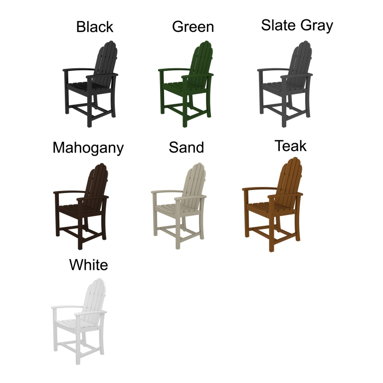 adirondack style dining chairs scorpion gaming chair polywood classic