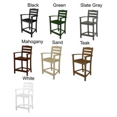 Counter Height Arm Chairs Navy Accent Polywood La Casa Cafe Chair Reg