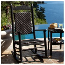 Polywood Woven Jefferson Rocker Outdoor Furniture