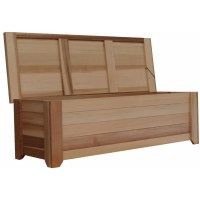 Wood Storage Bench  6'  Exclusive Item