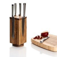 Rotating Wooden Magnetic Knife Block - Prosumer's Choice