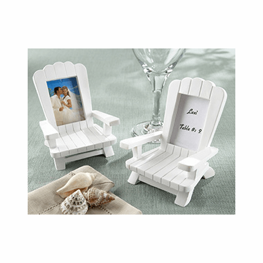 beach chair photo frame wheelchair kid party favors place card set of 4