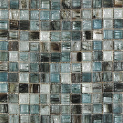 Interceramic Interglass Murano WhiteBlue 13 x 13 Glass