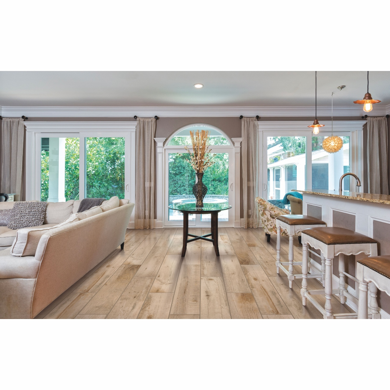 Mohawk Bryson Valley Whiskey Barrel Tile Flooring