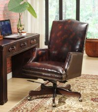 Classic Leather Desk Chair | British Home Emporium | BHE ...