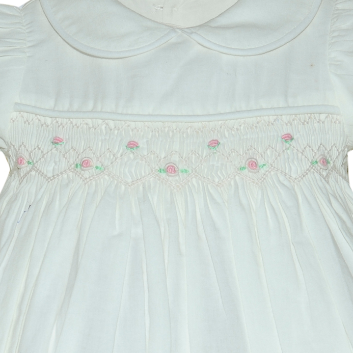 NEW Remember Nguyen (Remember When) White Cotton Smocked