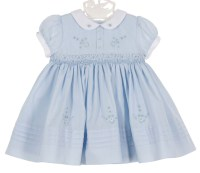 Sarah Louise vintage style blue smocked dress,vintage