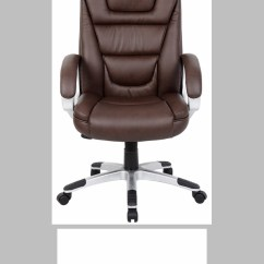 Boss Ntr Executive Leatherplus Chair Indoor Folding Chairs Nz High Back With Padded Arms - Brown [b8601-bb-fs-boss]