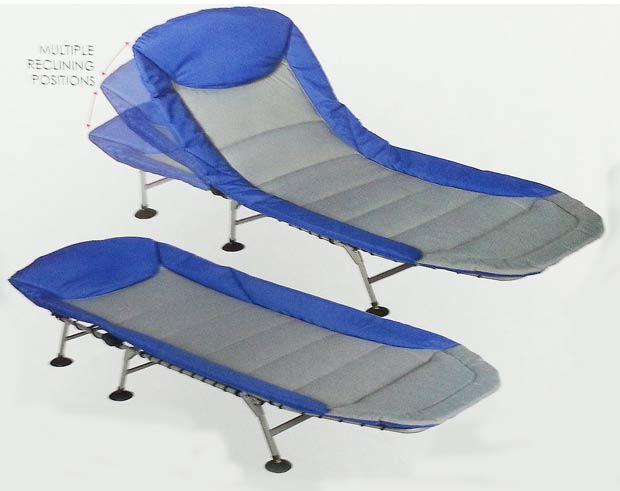 Folding cot and lounger bed