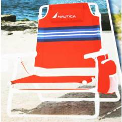 Nautica Beach Chairs Oval Dining Chair Red Stripes
