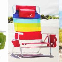 Beach Chairs With Cup Holders Kneeling Chair Review Nautica Lounge Holder New 2016 Adjustable