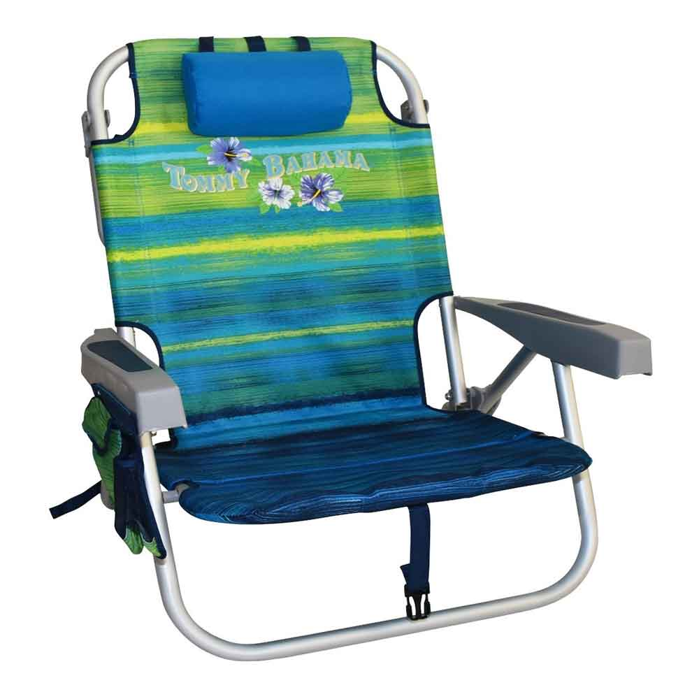 tommy bahama beach chair fabric covered oak dining chairs backpack green striped
