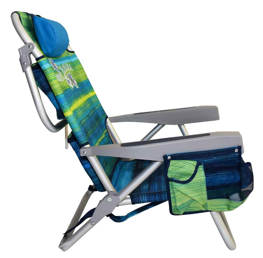 tommy bahama chair cooler backpack wooden stevens point hours folding beach - green stripes