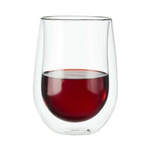 Double Wall Stemless Wine Glasses