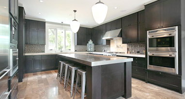 Dartmouth Gray Stain Kitchen Cabinets
