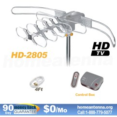 Antenna Rotor Wiring Diagram Tv Rotator Remote Trailer Lighting Best Library Diagrams Lava Hd2805 Amplified Outdoor Hdtv Uhf Vhf With Motor 19 S