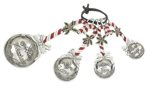 Ganz Measuring Spoons Candy Canes Hearts Desire Gifts