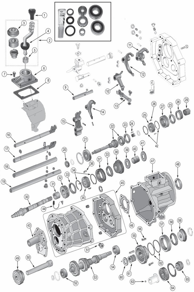 Jeep AX15 Transmission Parts for 1987-1999 Wrangler TJ, YJ