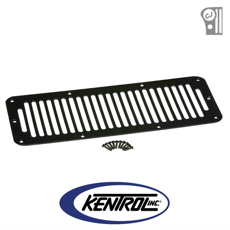 Kentrol 50406 Black Powder Coated Stainless Hood Vent fits