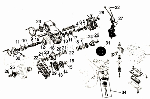CJ3B Dana Spicer 18 Parts, CJ3B Transfer Case Parts from