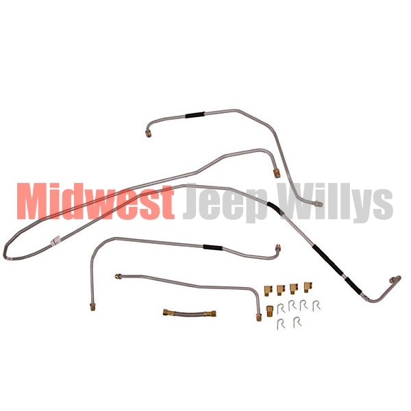 Jeep Part MS00200 Steel Fuel Line Kit, Fits 1941-1944