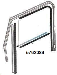 5762384 Door Belt Line Inner Glass Seal, Right Hand for