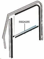 55024255 Door Belt Line Outer Glass Seal, Left Hand for