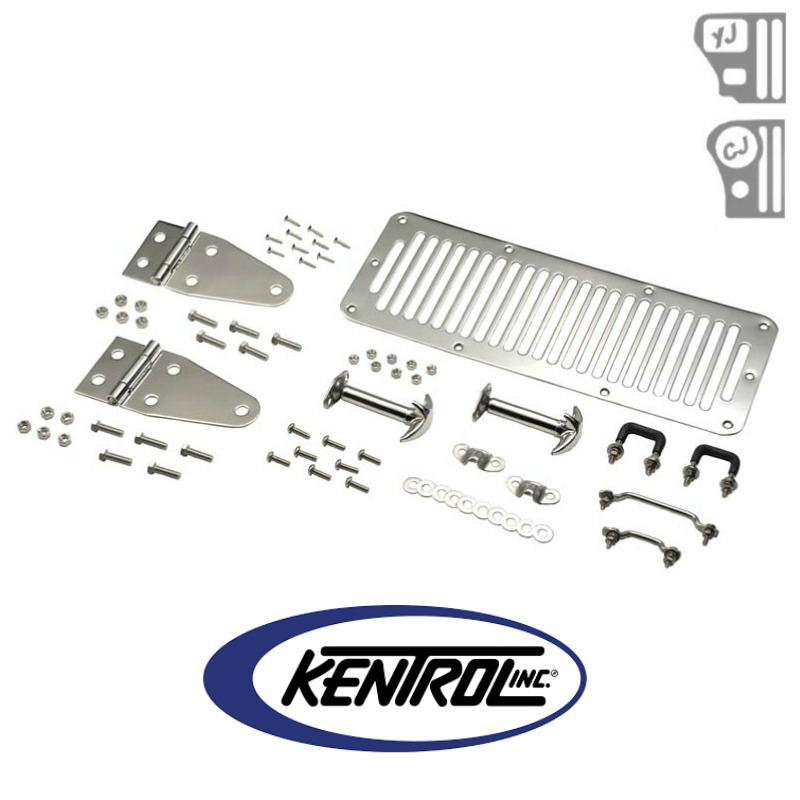 Kentrol 30470 Polished Stainless Steel Hood Kit fits 1978